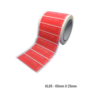 KL85---red-laminating-label-reel